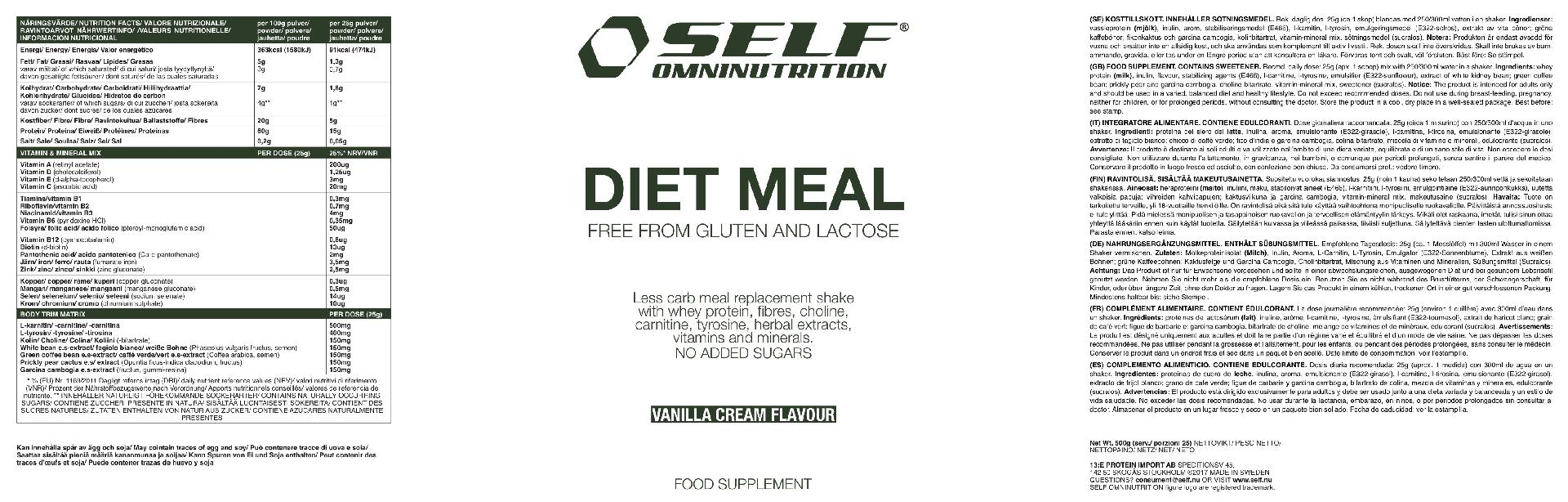 Pasto sostitutivo - Diet Meal SELF