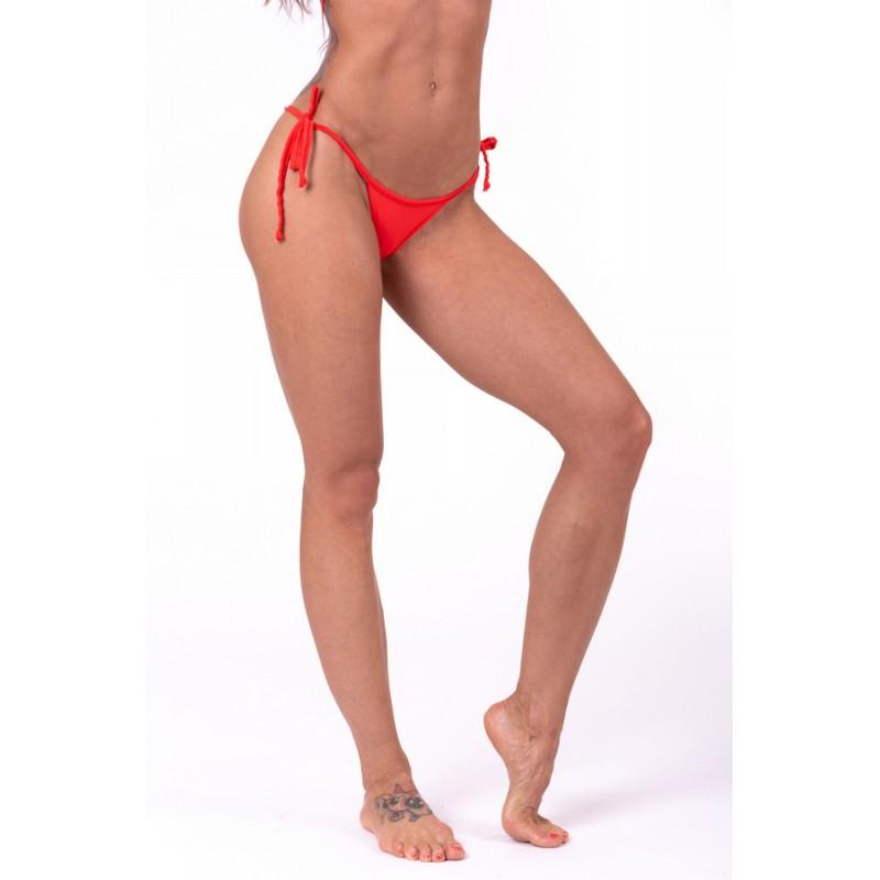 Scrunch butt tie side bikini 673 NEBBIA 673-Red