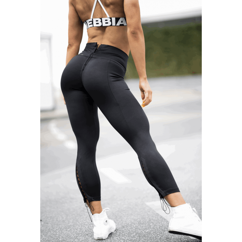 Lace up Leggins N661 nebbia fitness