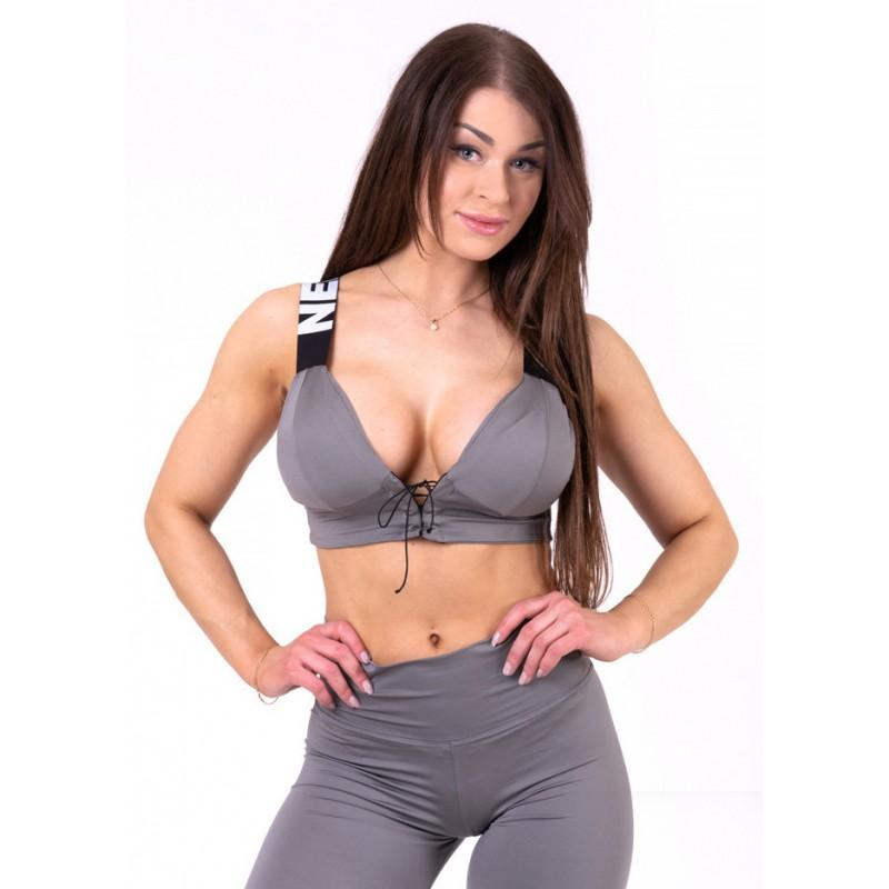 Lace up Sport Bra N694 nebbia fitness
