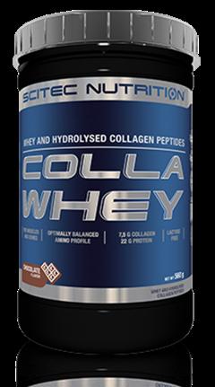 CollaWhey Scitec 560 gr - Combinazione di proteine del siero di latte e di petidi di collagene idrolizzati