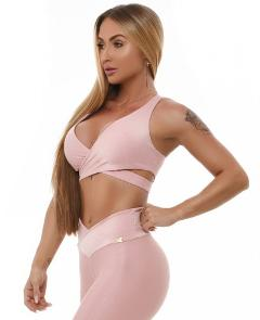 Top sportivo - T885 Let's Gym TOP TRANSPASSADO WONDER