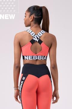 Reggiseno sportivo 535 Peach NEBBIA Power Your Hero - Taglia S