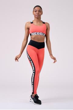 Leggings sportivi 531 Peach NEBBIA Power Your Hero - Taglia M