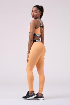Leggings sportivi 528 Apricot NEBBIA Squad Hero Scrunch Butt leggings - Taglia M