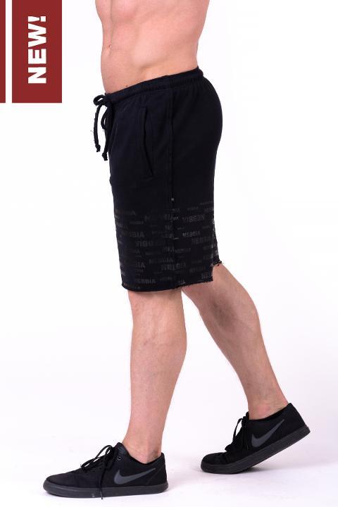 Pantalone Corto con Orlo Sfilacciato - 151 NEBBIA Raw Hem Street Shorts