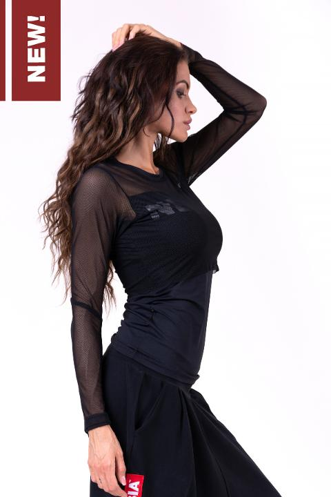 Maglia semitrasparente manica lunga - 664 NEBBIA Flash-Mesh longsleeve shirt