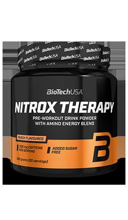 NITROX THERAPY Biotech 340 gr FORMULA PRE-ALLENAMENTO, CON CREATINA E CARBOIDRATI SENZA ZUCCHERO