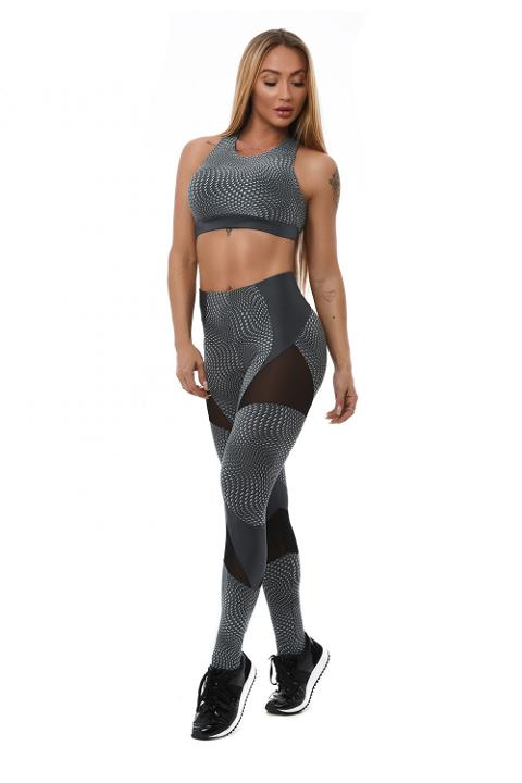 Leggings sportivo - L881 Let's Gym LEGGING  GALAXY OPTICAL