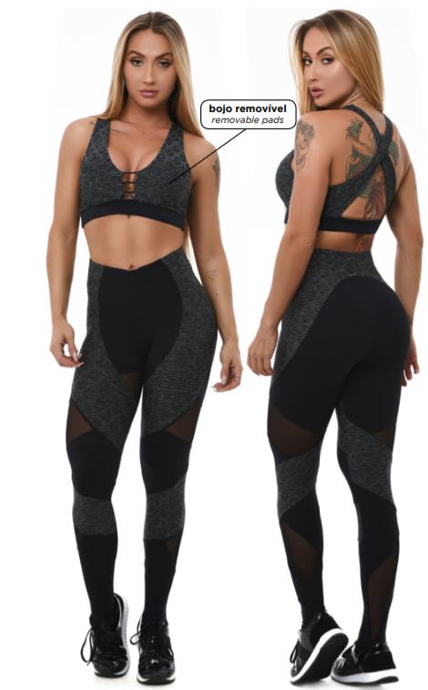 Legging sportivo - L906 Let's Gym SNAKE ONDULÊ