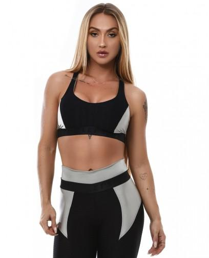 Top sportivo - T917A Let's Gym TOP CRYSTAL SHINE