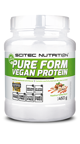 Pure Form Vegan Protein SCITEC 450 gr Proteine vegetali a base fonti naturali -