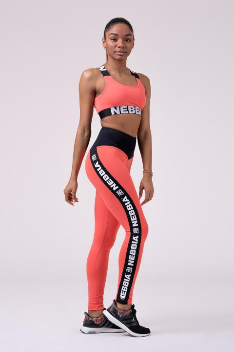Leggings sportivi 531 Peach NEBBIA Power Your Hero - Taglia S