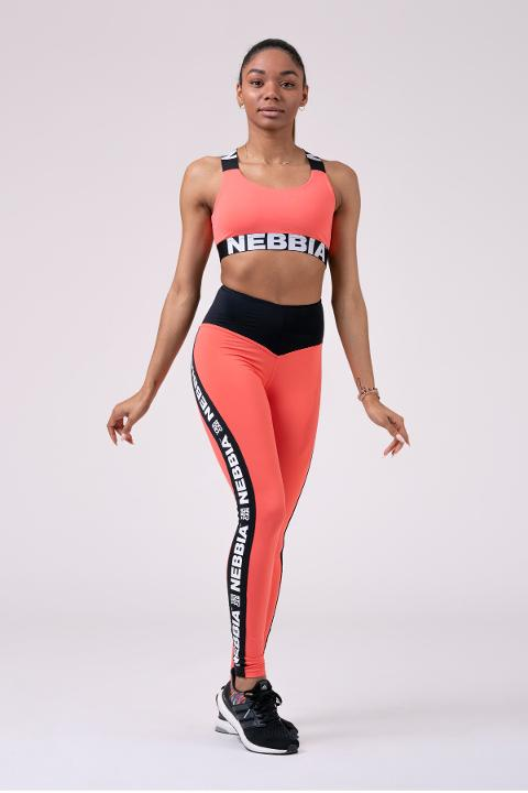 Leggings sportivi 531 Peach NEBBIA Power Your Hero - Taglia M
