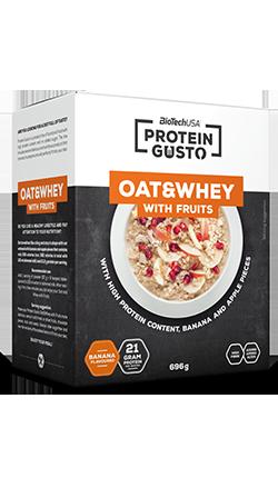 Oat & Whey With Fruits - Avena e frutta secca con concentrato proteico BioTech 696g (8 porzioni)
