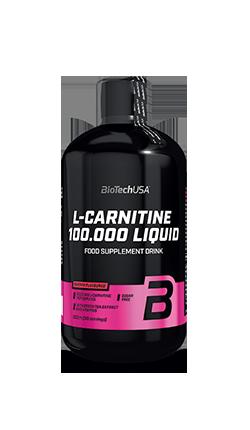 L-Carnitine 100.000 - L-Carnitina liquida con estratto di te verde e vitamine BioTech 500 ml