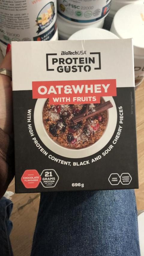 Oat&whey with fruits- 696g Biotech