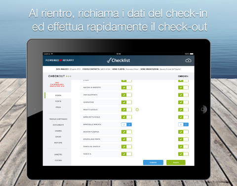 Charter Checklist My Appy Software gestione boat rental