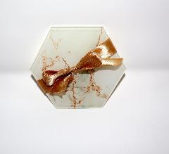 (min. 10 pz) Sottobicchieri Esagonali in Plexiglas Regplex Effetto Marmo