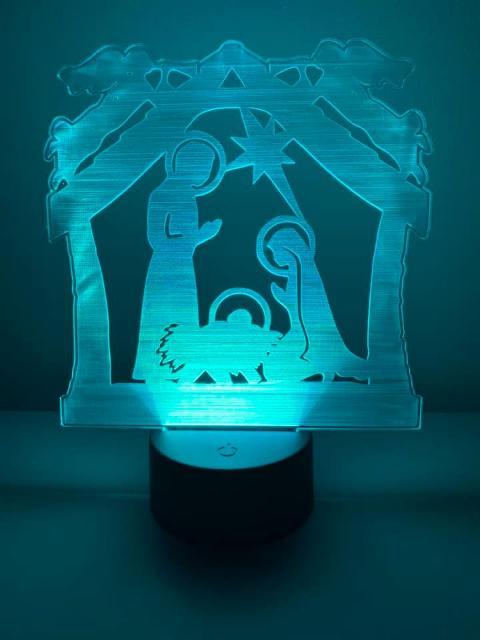 lampada rgb con la sacra famiglia. Regplex Linea Sacra