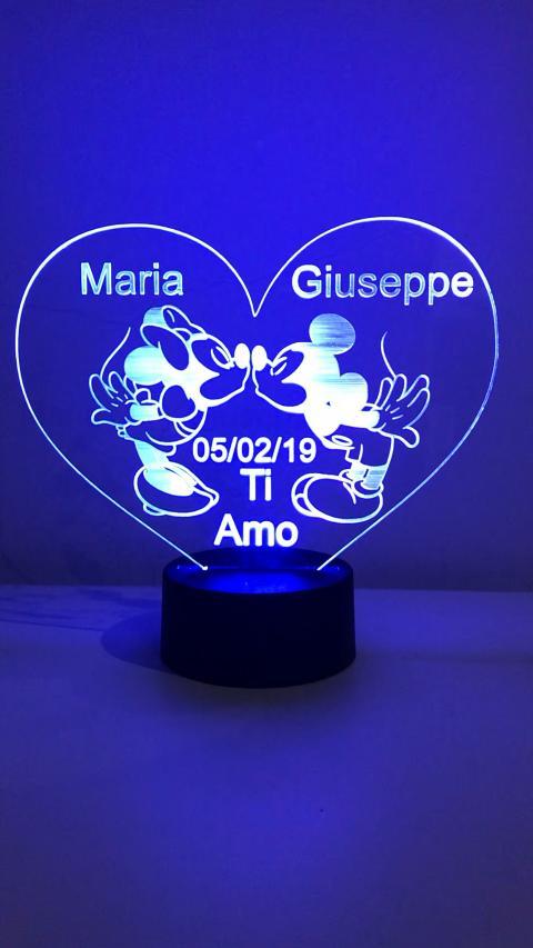 lampada a cuore per innamorati Regplex Linea Lampade
