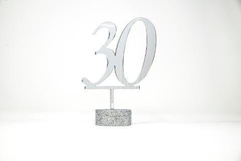 """Top Cake """"Numero"""" in Plexiglas Regplex Decorazione per Torta Personalizzata"""
