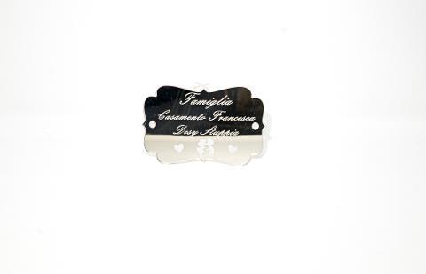 Dietro Porta in Plexiglas con stampa Innamorati Regplex Scritta Personalizzata
