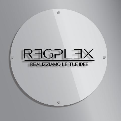 Targa Insegna Rotonda in Plexiglas Regplex Incisione Personalizzata