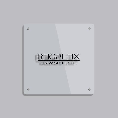 Targa Insegna Quadrata in Plexiglas Regplex Incisione Personalizzata