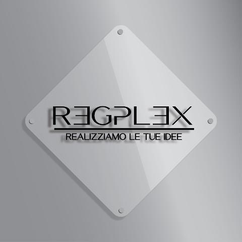 Targa Insegna Rombo in Plexiglas Regplex Incisione Personalizzata