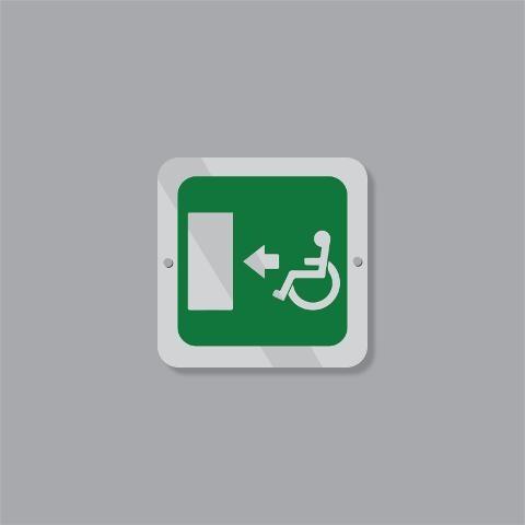 Cartello Uscita d'Emergenza per Disabili Regplex Segnaletica di Sicurezza