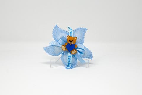 """""""Orsetto"""" Blu in Plexiglas in versione accessorio per Bomboniera Regplex Personalizzabile"""