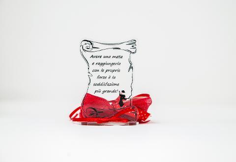 Pergamena Laurea in Plexiglas in versione accessorio per Bomboniera Regplex Personalizzabile