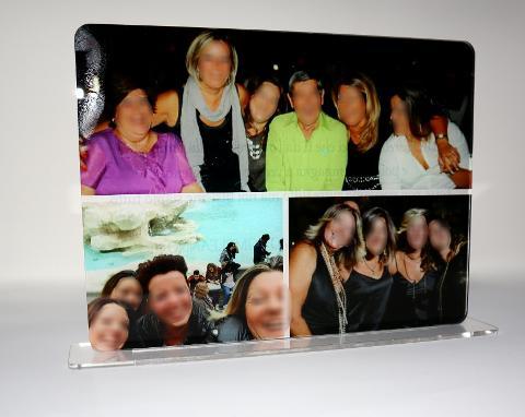 """""""Collage"""" Portafoto Ricordo in Plexiglas Regplex Rettangolare"""