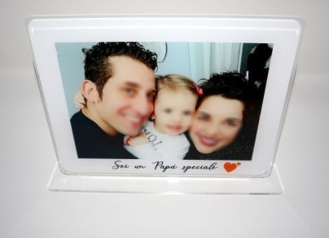 """Portafoto Ricordo """"Mamma/Papà"""" in Plexiglas Regplex Rettangolare"""