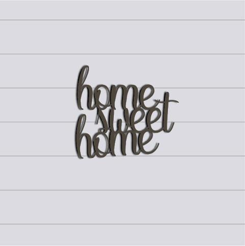 """Scritta """"Home Sweet Home"""" in Plexiglas Regplex Decorazione per la Casa"""