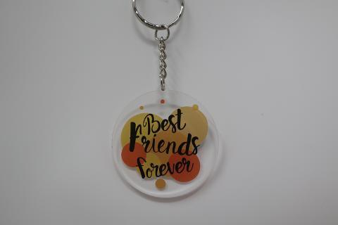"""""""Best Friends Forever"""" Porta Chiave in Plexiglas Regplex Personalizzato"""