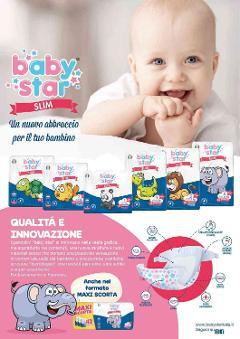 LINEA BABYSTAR PANNOLINI, SALVIETTINE E DETERGENZA BABY STAR
