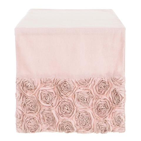 runner rose cotone 100% Blanc Mariclo runner rose