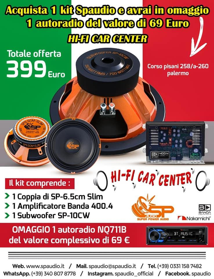 Acquista un Kit SP audio e avrai in regalo un autoradio