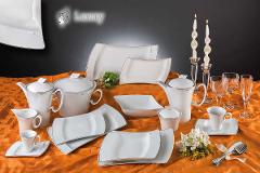 Servizio da tavola Luxury in Porcellana - 100 pezzi MariLu Quadrato