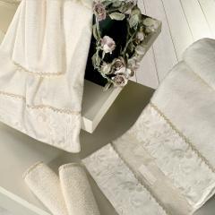 Set Asciugamani da Bagno Ramona Donadei Damascato in puro cotone