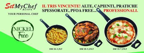 Set Tris Padelle My Chef active Nickel Free - PFOA free