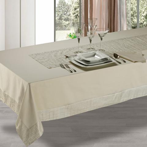 Tovaglia tavola in puro cotone e lavorazione Jacquard Donadei Elisa