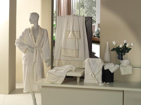 Set Asciugamani da bagno Elisa Donadei In raso di cotone e lavorazione Jacquard