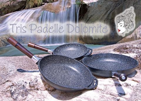 Batteria Padelle in pietra lavica - 7 pezzi MariLu Dolomite