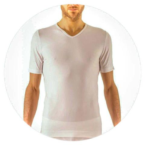 T-shirt a V Booster Life Energy F.I.R.