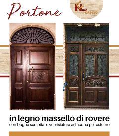 Portone in massello Legno.Rovere/ Cascio Nino