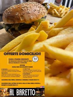 Offerte a Domicilio /  Panino/  Al Baretto