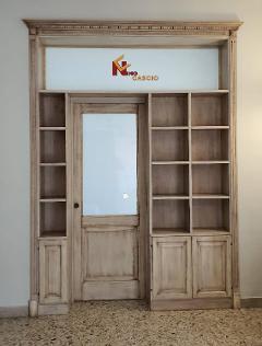 Separè Libreria con porta/ in Toulipier/ Cascio Nino